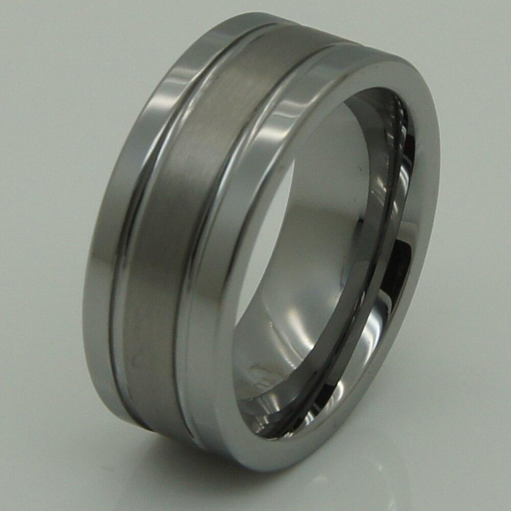 8mm 2 tono brillante cepillo de alta tecnología arañazos prueba tungsteno  boda anillo d2ba1623eaea