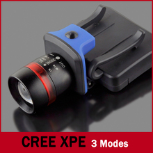 XPE 120 Lumens LED Headlight Head torch 3 Modes Water Resistant Lamp Frontale Headlamp Zoomable Clip-on Cap Hat Head Lamp Light