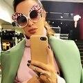 2017 óculos de sol das mulheres designer de marca Borboleta Grande Quadro único óculos de sol Mulheres homens óculos de sol óculos steampunk óculos de sol do Metal
