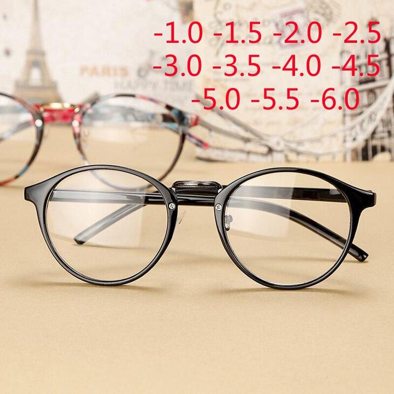 Retro Round Eye Glasses Men Women Ultra Light Myopia Eyeglasses Myopia Glasses Finished -1 -1.5 -2 -2.5 -3 -3.5 -4 -4.5 -5 -6