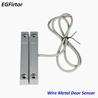 5Pair Wire 58 Metal Roll Door Window Sensor Magnetic Contact Reed Switch Sensor For Home Alarm System