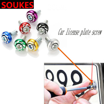 12PCS Car Styling Modification License Plate Screw Set For BMW E46 E90 E60 E36 F20 X5 Ford Focus 2 3 1 Peugeot 206 307 308 Saab image