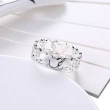 Fashion Silver Jewelry 925 Rings Beautiful for Women Girls Ring Gifts ( Size 6,7,8,9 )