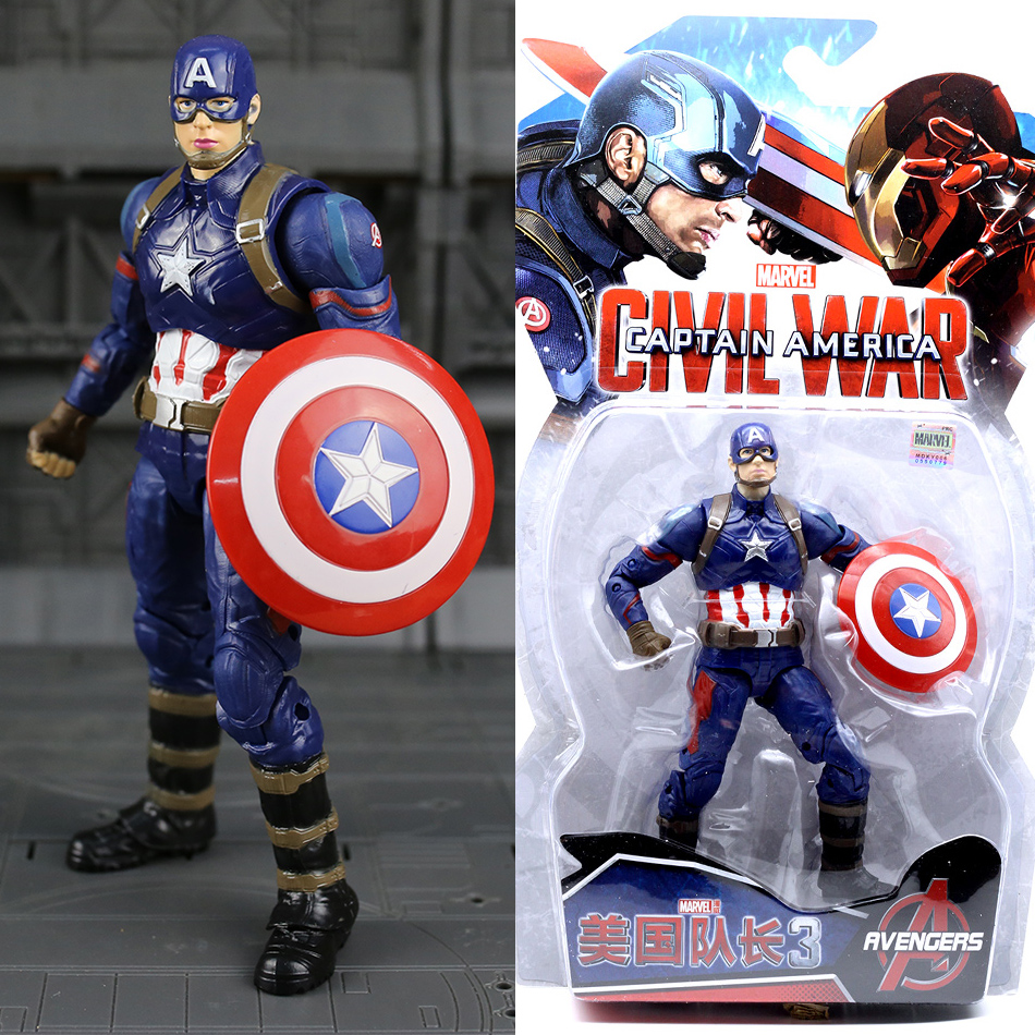 Disney Marvel 7 Hot Legends Civil War Iron Man Captain America Black Panther Vision Falcon Iron Man PVC Action Figure Toys neca marvel legends venom pvc action figure collectible model toy 7 18cm kt3137