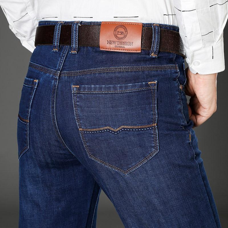 Men Jeans Homme Pants Pantalones Vaqueros Calca Masculina Jean Classic Straight Marque De Luxe Mannen Slim Fit Famous Brand