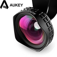 Aukey New Arrival 18MM HD Wide Angle Optic Pro Lens Cell Phone Camera Lens Kit 2X