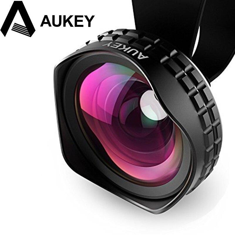 bilder für AUKEY Objektiv 18 MM HD Weitwinkel Optic Pro Objektiv Handy Kamera objektiv Kit 2X für Samsung galaxy s8 iPhone Xiaomi HTC und mehr