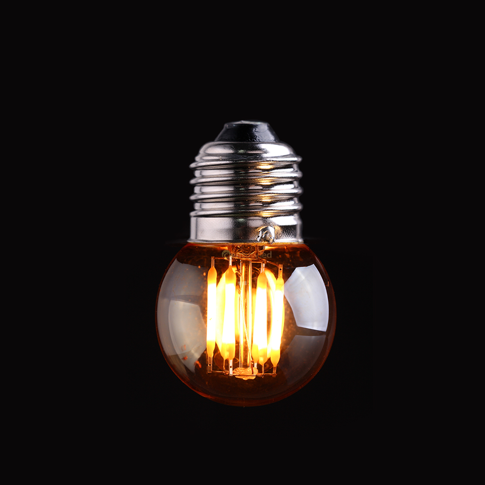 Vintage <font><b>LED</b></font> Filament Light Bulb,3W 2200K,Gold Tint,<font><b>Edison</b></font> G40 Globe Style,Decorative Household Lights,<font><b>Dimmable</b></font>