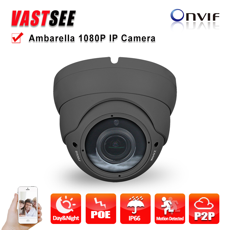 ФОТО 2MP IP camera full HD 1080P POE onvif P2P SONY IMX290 Sensor Ambarella indoor room dome 2.8-12mm varifocal video surveillance