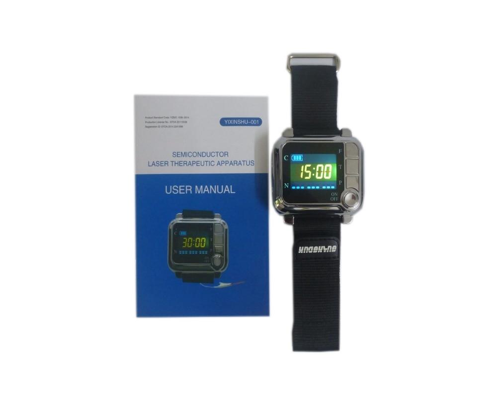CE ТВ 650nm лазерного бренда массаж наручные лазерный диод часы полупроводниковые диабет лазера синусит терапевтический аппарат