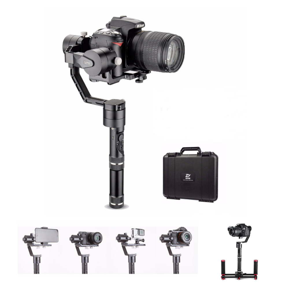 Zhiyun Gimbal Crane V2 3-Axis Bluetooth Handheld Gimbal Stabilizer for ILC Mirrorless Cameras+Hard Case,Stabilizer for Cameras yuneec q500 typhoon quadcopter handheld cgo steadygrip gimbal black