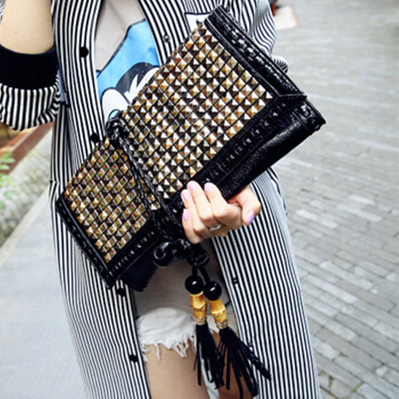ФОТО Famous Brands Women Leather Handbags Designer Envelope Clutch Bag Evening Shoulder Bags Luxury Tassel Bags Hand Bags Purses