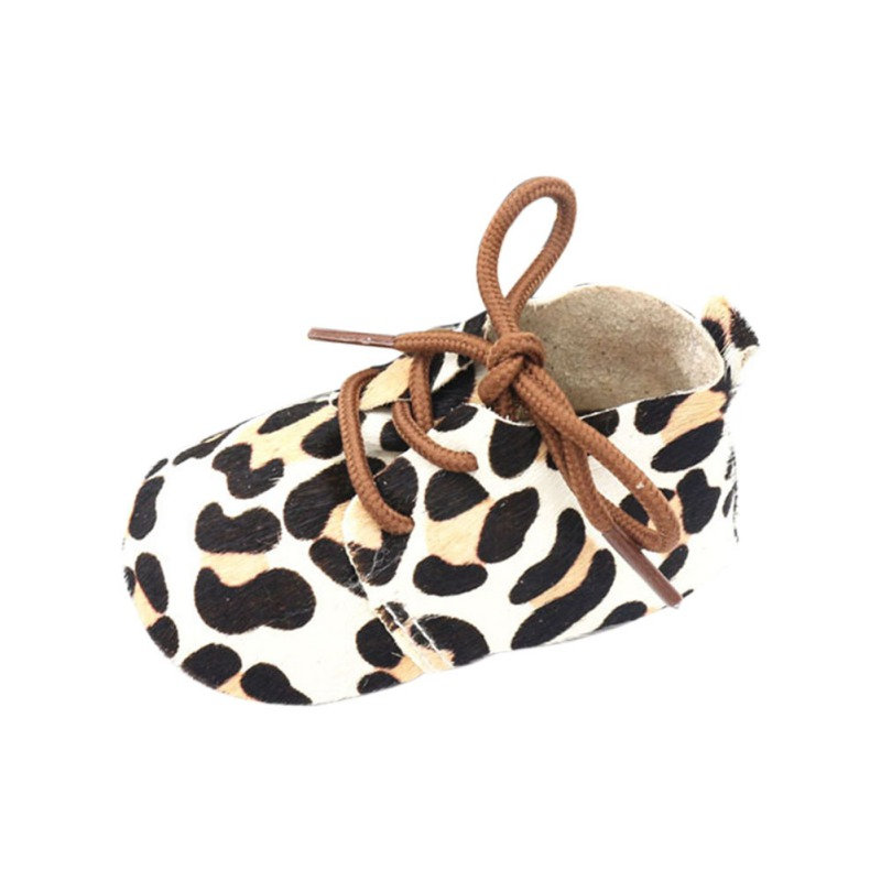 Baby Shoes Leopard Print Anti-Slip Horse Plush Shoes Sneakers Soft Soled Walking Shoes First Walkers 0-24M Newborn Baby Gifts