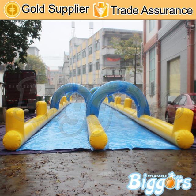 Doble Carril de Deslizamiento Gigante Tobogán Inflable Y Diapositivas Niños Parque de Atracciones Inflable