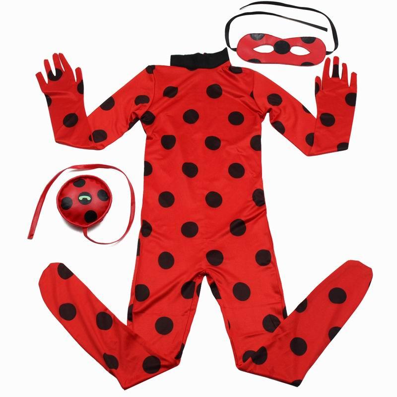Ladybug Costume Girls Cosplay Costumes Halloween Christmas Costumes For Girls Kids Ladybug Marinette Cosplay Hero Girls Dress