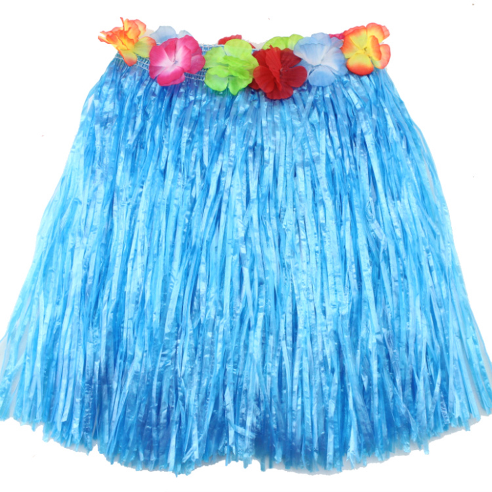 9386c7cdf843 Αγορά Εορταστικές προμήθειες | 9 Colors 1PC Plastic Fibers Women Grass  Skirts Hula Skirt Hawaiian costumes 40CM Ladies Dress Up Festive & Party  Supplies
