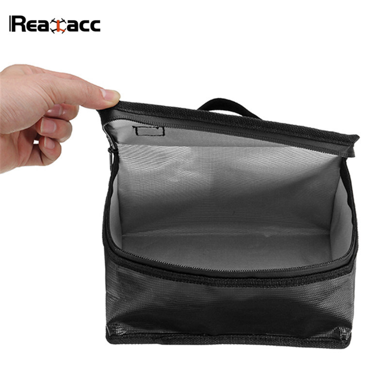 Upgraded Realacc Fireproof Waterproof Lipo Battery Safety Bag Handbag Soft Suitcase With Luminous Handle Boxes for RC Battery