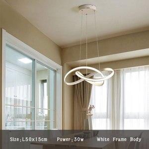 Image 2 - Lumière de pendentif LED moderne pour salle à manger salon chambre salle de café Lusture LED lumière intérieure suspension lampe luminaires