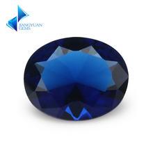 Стеклянные бусины овальной формы синего цвета 2x3 ~ 13х18 мм