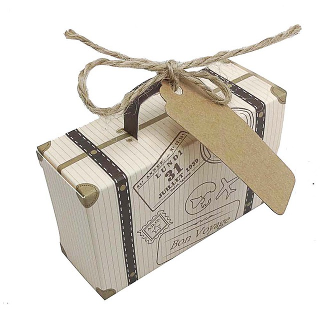 100 stücke Kreative Mini Koffer Pralinenschachtel Süßigkeiten ...