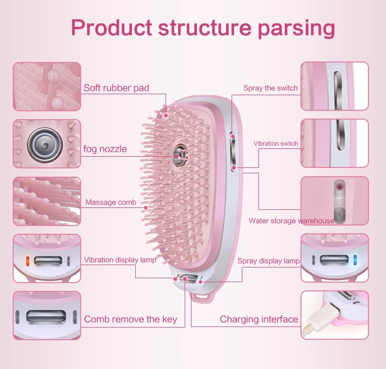 Nano speiten escova de cabelo ionic negatieve
