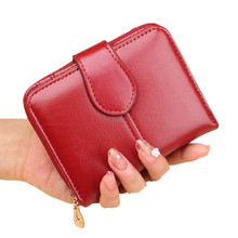 Short Trifold Coin Purse Card Holder Money Clutch Multifunction Zipper Bag 2019 New Women Wallet Female Purse Leather Wallet цена