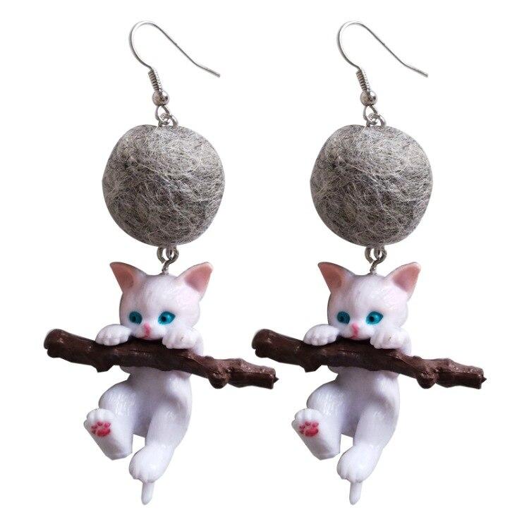 2019 Funny Resin Branch Cute Cat Kitten Drop Earrings Fashion Cartoon Animal Jewelry for Women Girls Trendy Accessories Gift-in Drop Earrings from Jewelry & Accessories on Aliexpress.com | Alibaba Group