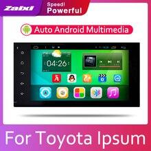 ZaiXi Android 2 Din Car radio Multimedia Video Player auto Stereo GPS MAP For Toyota Ipsum 2001~2009 Media Navi Navigation цена