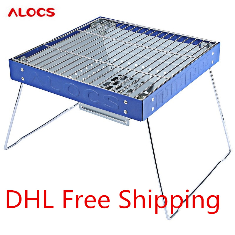 ALOCS Portable Barbecue Grill Outdoor Stove BBQ Grill Charcoal Grill for Outdoor Activity Camping Equipment Travel Kit  цены