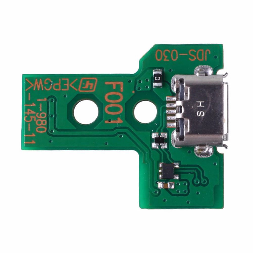 JDS-030 Green Repair Parts Breathing Light Board Durable Charging Port Reliable Replacement 12PIN Connector For PS4 Handle