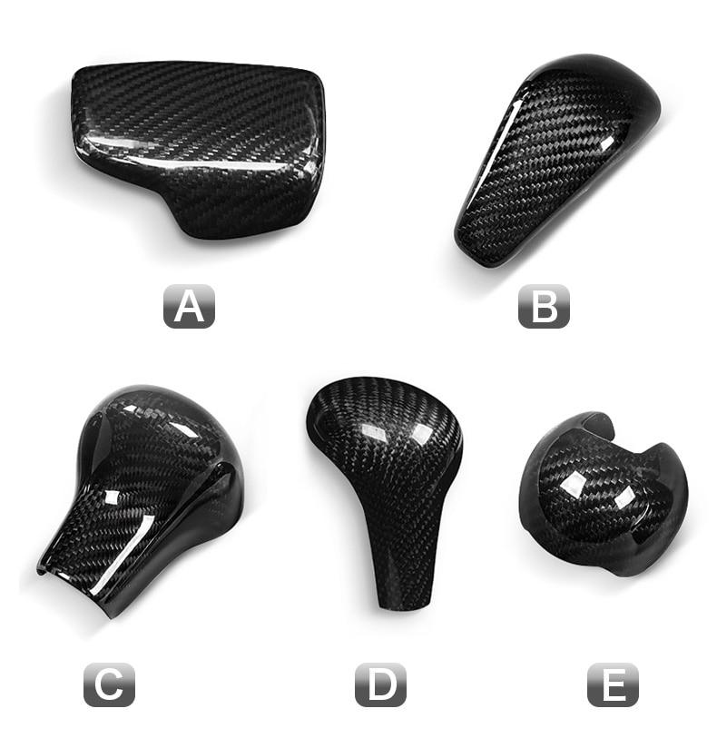 Carbon Fiber Gear Shift Knob Cover Head for Audi A4 B9 B7 A5 Q7 A3 S3 A4 B8 A5 C6 A6 C7 C6 S6 A7 S7 A8 Q5 Accessories (2)