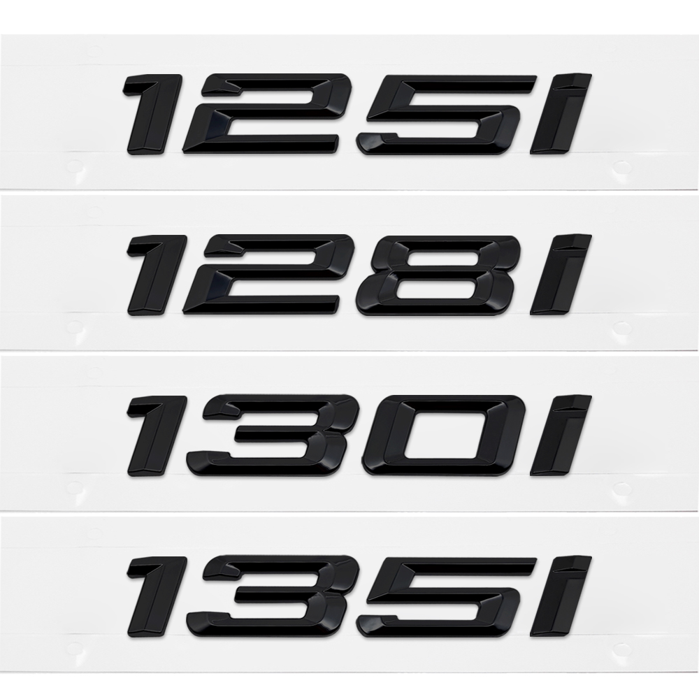 E70 X5 Letters Car Silver or black Emblem Rear Trunk Logo Sticker For BMW E53