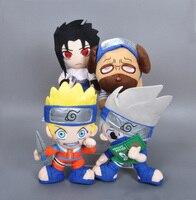 Janpanese Anime Naruto Plush Toy Cartoon Uchiha Sasuke Hatake Kakashi Pakkun Dog Uzumaki Naruto stuffed doll toys for children