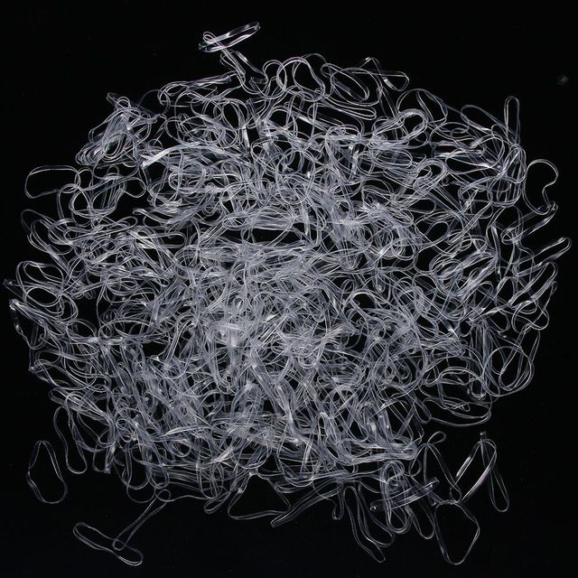1000pcs/bag Child Baby Gum for Hair TPU Disposable Elastics Hair Bands Girls Ponytail Holder Rubber Bands Hair Accessories