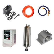 DIY CNC Part Kit 80mm CNC Water Cooled Spindle Motor Clamp 800W 1.5KW Frequency Converter VFD Inverter 2.2KW 1.5KW