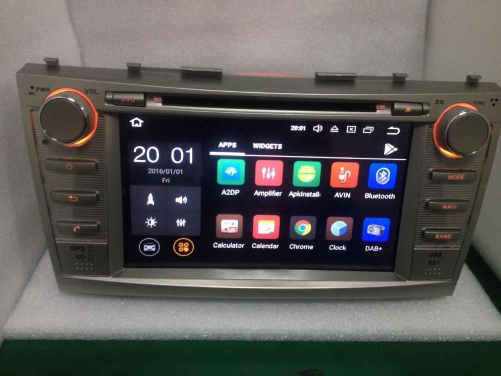 """2 الدين رباعية النواة 8 """"الروبوت 8.1 مشغل أسطوانات للسيارة GPS والملاحة لتويوتا كامري 2007 2008 2009 2010 رئيس وحدة راديو ستيريو بالسيارة DAB DVR BT"""