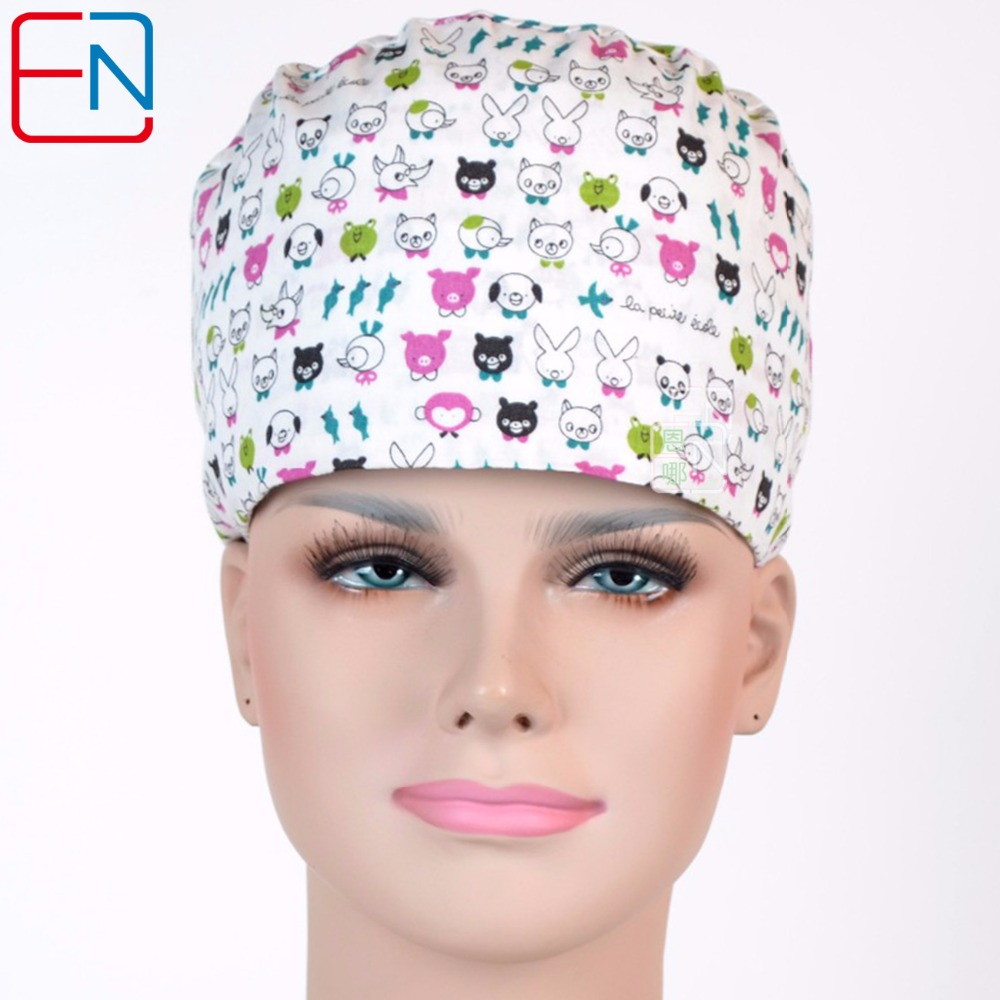 Hennar Surgical Scrub Caps Hospital Hot Selling Adjustable Medical Caps Lab Clinic Dental Operation Hat For Nurse Doctors Unosex