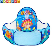 2017 Ocean Sence  Kids Tent For Children Kid Indoor Outdoor Play House Folding Baby Toy Tent Cute Baby  Ball Pool Pit