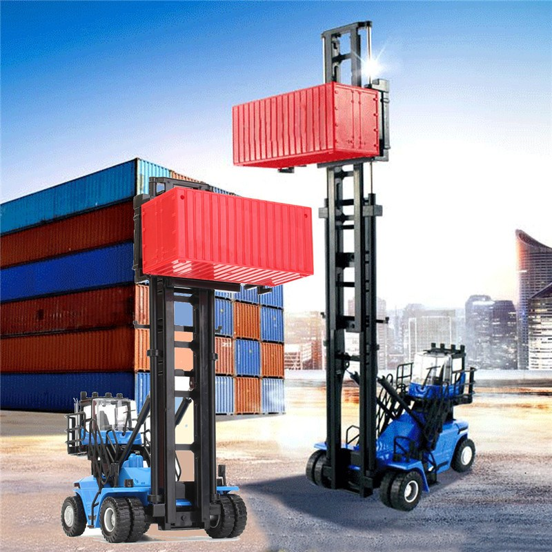 New 1/50 Diecast Empty Container Stacker Forklift Truck Car Model Kids Toy Gift