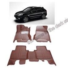 lsrtw2017 leather car floor mat carpet for renault koleos Samsung QM5 2007 2008 2009 2010 2011 2012 2013 2014 2015 accessories