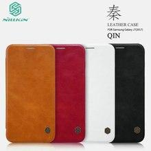 Оригинальный Nillkin Qin Series Роскошные флип чехол Кожаный чехол для Samsung Galaxy J7 2017 J730F (Европейская версия) телефон сумка NQ01