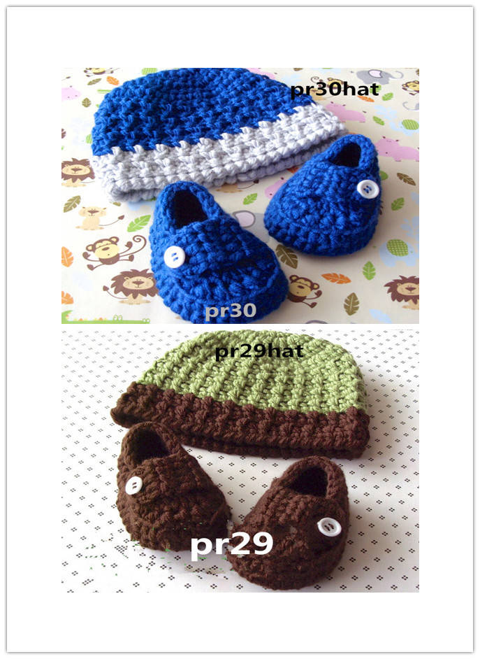 Crochet Baby Hats , Baby Beanie, Baby Boy Crochet Shoe
