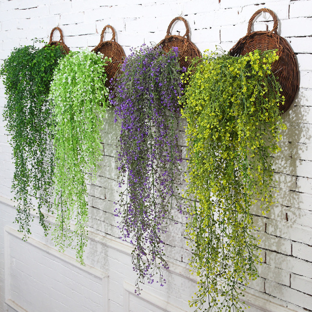 Creative Home Wedding Wall Decor Three Dimensional Simulation Plant Hangings Artificial Plants Plastic Admiralty
