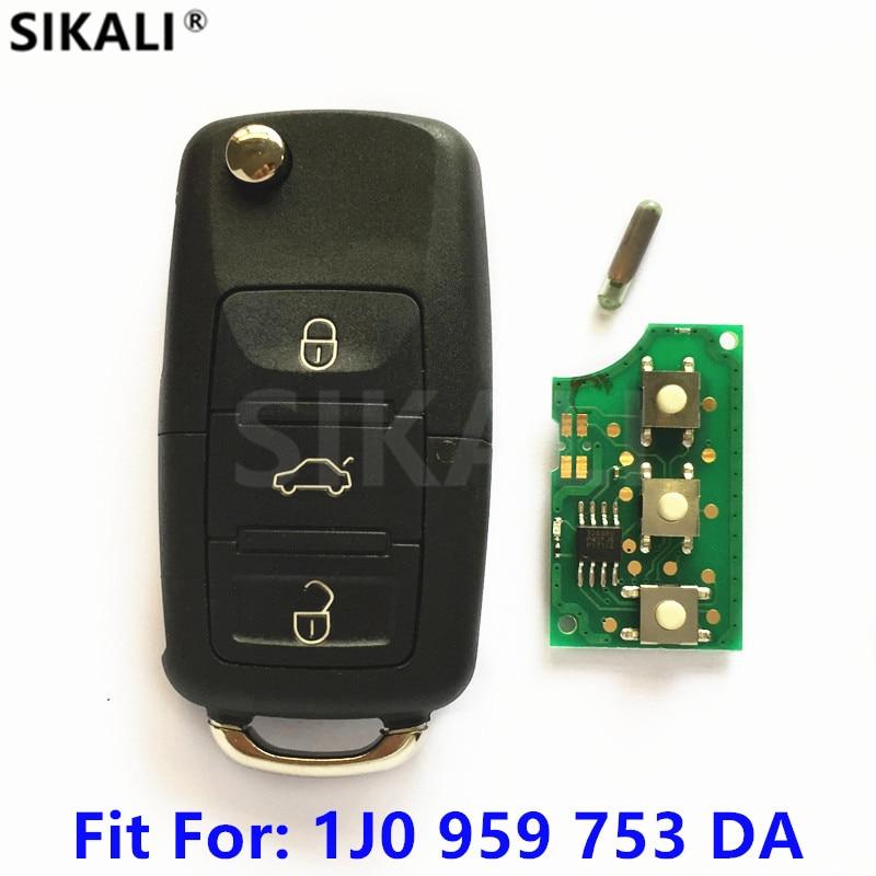 Car Remote Key with Chip for Skoda 1J0959753DA 5FA009259-10 for Octavia/Superb/Yeti 2008-2014