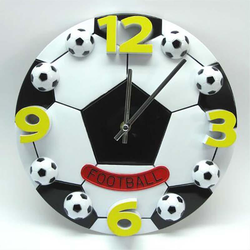 3D kreatywny piłka nożna duży cyfrowy zegar ścienny salon nowoczesny dzieci zegary dekoracji biura Duvar Saati unikalne prezenty 50w313