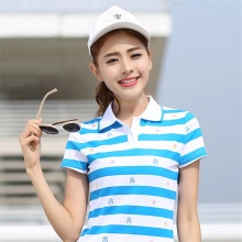 Summer Women Polo Shirt Female  Fashion New Slim Loose Cotton Short Sleeved Shirt Plus Size Stripe Polo Shirt Ladies Tops XXXL
