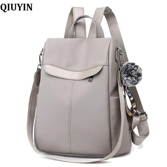 180c7936c8b28 QIUYIN Urban Fashion Backpacks For Girls Backpack Female New Women PU Leather  Backpack Bag Anti Theft