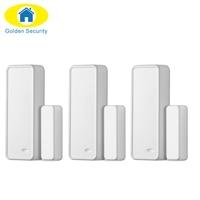 3ps Lot Wireless Alarm Accessories Intelligent Door Window Sensor Magnetic Door Sensor For G90B GSM PSTN
