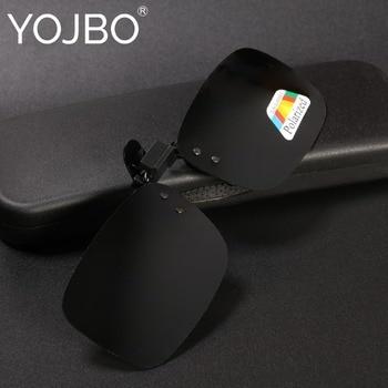 4960a566b7 YOJBO Clip polarizado gafas de sol de marca de diseñador de visión de noche,  gafas de sol para hombres las mujeres amarillo conducción Anti mira UV400  ...