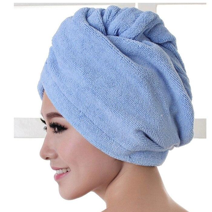 2017 באיכות גבוהה האמבטיה מיקרופייבר מגבת שיער יבש מגבת אמבטיה גברת ייבוש מהיר רך כובע מקלחת כובע לגבר אישה